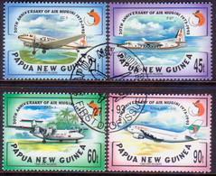 PAPUA NEW GUINEA 1993 SG #696-99 Compl.set Used Air Niugini - Papua New Guinea