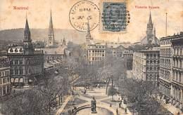 """M07985 """"MONTREAL-VICTORIA SQUARE"""" ANIMATA-CARTOLINA POSTALE ORIGINALE SPEDITA 1908 - Montreal"""