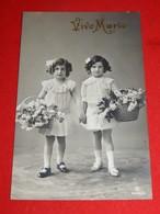FANTAISIES - ENFANTS  -  Jolies Fillettes Au Panier Fleuri - Portraits