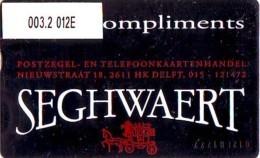 Telefoonkaart  LANDIS&GYR  NEDERLAND * RCZ.003.2  012E * Postzegelhandel Seghwaert (zwart)  * TK * ONGEBRUIKT * MINT - Privé
