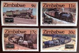 Zimbabwe 1985 Steam Safari Railway Locomotives MNH - Zimbabwe (1980-...)
