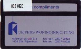 Telefoonkaart  LANDIS&GYR  NEDERLAND * RCZ.005  012E * Woninginrichting Kuypers  * TK * ONGEBRUIKT * MINT - Pays-Bas