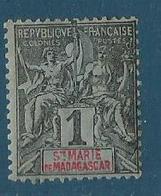 Madagascar Sainte Marie 1894 Yvert N° 1 - Oblitérés