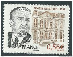France Autoadhésifs N° 369a XX  Personnalité Eugène Vaillé Variété : Contour Droit Du Visage Absent, Sans Charnière, TB - France