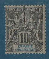 Madagascar Sainte Marie 1894 Yvert N° - Oblitérés
