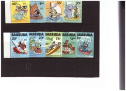 814  - BARBUDA - .     NUOVI**  CAT. Y&T.  Nr. 511/519 +  BF. 55 - Disney
