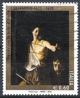 Italia, 2010 Caravaggio, 0.60 € # Sassone 3185 - Michel 3395 - Scott 3014 USATO - 6. 1946-.. República