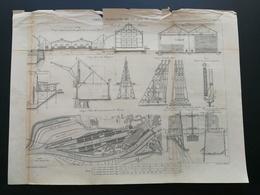 ANNALES DES PONTS Et CHAUSSEES - Ports Allemands De La Mer Du Nord - Gravé Par Macquet 1891 (CLD33) - Travaux Publics