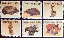 Zimbabwe 1996 Wood Carvings MNH - Zimbabwe (1980-...)