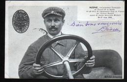 Szisz, Vainqueur Francais Du Circuit De La Sarthe Sur Renault Munie De Jantes MICHELIN, 26 27 Aout 1906 - Voitures De Tourisme