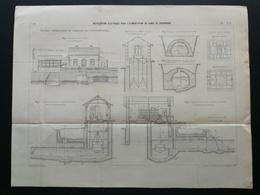 ANNALES DES PONTS Et CHAUSSEES - Installation électrique Pour L'alimentation - Imp L. Courtier 1898 (CLD35) - Travaux Publics