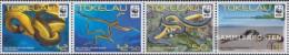 Tokelau 408-411 Quad Strip (complete Issue) Unmounted Mint / Never Hinged 2011 Plättchenseeschlange - Tokelau