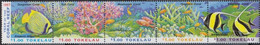Tokelau 253-257 Five Strips (complete Issue) Unmounted Mint / Never Hinged 1997 Coral - Tokelau