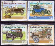 PAPUA NEW GUINEA 1994 SG #725-28 Compl.set Used Historical Cars - Papua New Guinea