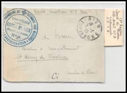 52934 Puy De Dome Riom 1918 Hopital Auxiliaire 6 Sante Guerre 1914/1918 War Devant De Lettre Front Cover - Postmark Collection (Covers)