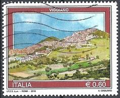 Italia, 2010 Veduta Di Viggiano, 0.60 € # Sassone 3174 - Michel 3383 - Scott 3002 USATO - 6. 1946-.. Repubblica