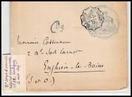 53019 Nièvre Corbigny 1917 Hopital Temporaire 32 Convoyeur Clamecy Cercy Medecin Guerre 1914/1918 Devant De Lettre - Postmark Collection (Covers)
