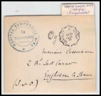 53020 Nièvre Corbigny 1917 Hopital Temporaire 32 Convoyeur Clamecy Cercy Vaguemestre Guerre 1914/1918 Devant Lettre - Postmark Collection (Covers)