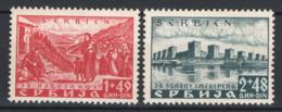 Serbia Occ.Tedesca 1941 Unif.34A/B */MNH VF/F - Serbia