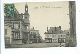 Givet Place De L'Hôtel De Ville Et Rue Thiers - Givet