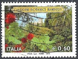 Italia, 2010 Giardini Hanbury, 0.60 € # Sassone 3170 - Michel 3380 - Scott 2999 USATO - 6. 1946-.. Repubblica