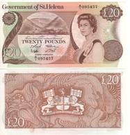 SAINT HELENA  £20    Queen ELIZABETH II   At Right   P10a   (ND 1986)  UNC - Gran Bretagna