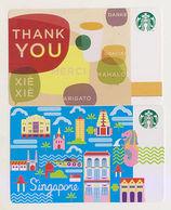 Starbucks Card Singapore Sample Cards (paper) - Cartes Cadeaux