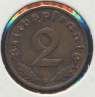 Deutsches Reich Jägernr: 362 1936 D Vorzüglich Bronze 1936 2 Reichspfennig Reichsadler (7869080 - [ 4] 1933-1945 : Third Reich