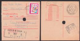 Einzahlungsauftrag DDR 1433 15 Pfg. Pionierorg. Ernst Thälmann, Spatelst. (18) Velten Sommerfeld 20.12.68, Selt. Verwend - [6] République Démocratique