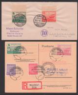 Boedenreform 1945 SBZ Provinz Sachsen Acker Pflügender Bauer Pferde, Einschreiben-Karte, Zigarettenpapier - Sovjetzone