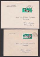 DDR 870 10 Pf. Mauswiesel, 886 10 Pfg. Friedensfahrt  Je Auf Auslands-Drucksache Aus Raguhn - [6] Oost-Duitsland
