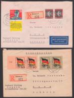 Johannes R. Becher R-Brief Dessau, 40 Pf Doppelbrief Raguhn Mit G. S. Titow Und W. Ulbricht, Je Auf Auslandsbrief - [6] Oost-Duitsland