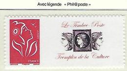 """FR Personnalisés YT 3802Ab """" Marianne Lamouche TVP  Adhésif """" 2005 Neuf** - France"""