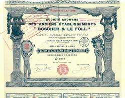 """Boscher & Le Foll"", Reims 1925 - Shareholdings"