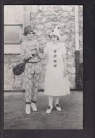 CPA PHOTO 26 - DONZERE - CARNAVAL FETE TB PLAN 2 Personnages En Costume - Donzere
