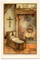 Anton Pieck Geboortekaartje Kristien 1956 Torhout Assebroek  Faire Part De Naissance Prentje Image - Naissance & Baptême