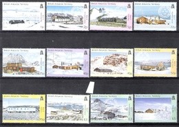 British Antarctic Territory 2003 Research Bases And Postmarks Definitives MNH CV £46 (2 Scans) - Unused Stamps