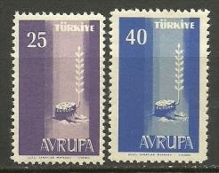 Turkey ; 1958 Europa CEPT - 1921-... République
