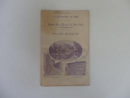 Menu Du Grand Banquet De La Grande Fête D'été Du 26 Août 1923 à Saint-Flour (Cantal). - Menu