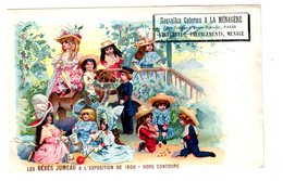 Chromo Carte Postale, Bébés Jumeau, Exposition 1900 - Trade Cards