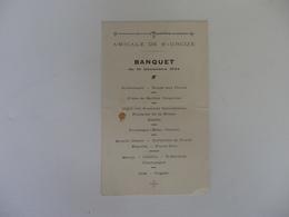 Menu Du Banquet De L'Amicale De Saint-Urcize (Cantal). - Menu