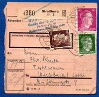 Colis Postal  -   Départ Strasbourg 2  -  24/6/43   -- - Allemagne