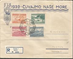 YU 1939-385-8 SHIPS, YUGOSLAVIA, R-LETTER FDC - FDC