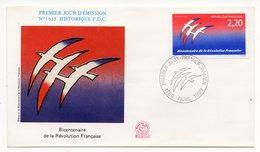 FDC France 1989 - Bicentenaire De La Révolution Française - YT 2560 - Paris - FDC