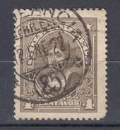 "Chile 4 C Kolumbus 1915 - ""..eancia"" Zentrischer 2 Kreis Stempel Gestempelt - Chile"