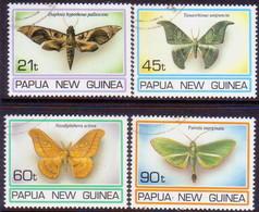 PAPUA NEW GUINEA 1994 SG #741-44 Compl.set Used Moths - Papua New Guinea