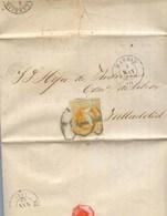 Año 1860 Edifil 52 4c Isabel II Carta Matasellos Rueda De Carreta 1 Madrid Historia De La Guardia Civil Por Valderrama - Used Stamps
