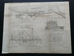 ANNALES DES PONTS Et CHAUSSEES - Port De Buffalo. Reconstruction De Brise-lames. - Gravé Par Macquet 1892 (CLD40) - Travaux Publics