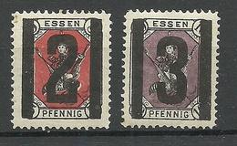 Germany Deutsches Reich Ca 1880 Stadtpost ESSEN Biene Local Private City Post MNH - Private