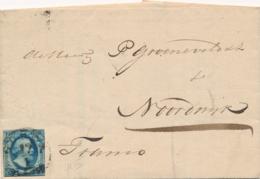 Nederland - 1854 - 5 Cent Willem III, 1e Emissie Op Complete Vouwbrief Van L Waddingsveen Via HRF GOUDA Naar Noordwijk - Covers & Documents